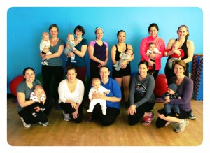 Mom and baby exercise class Active Moms Club3