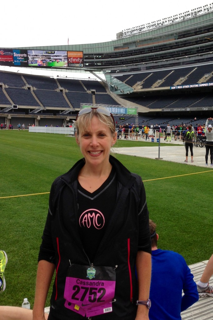 Soldier Field 10-miler finish line