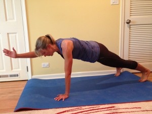 Plank with Arm Lift
