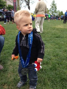 Soldier Field 10-miler finisher medal