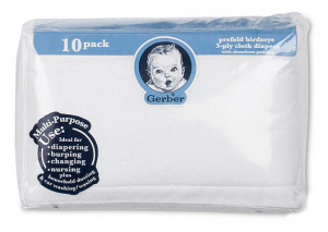 Gerber 10 Pack Cloth Diapers