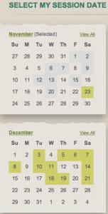 Dream Dinners Online Calendar