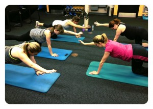 prenatal exercise class with Active moms club