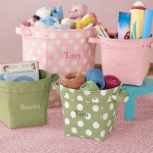 Storage bins to de-clutter