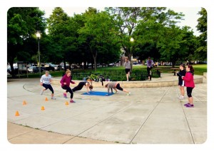 Active Moms Club Fitness CHallenge Outdoors