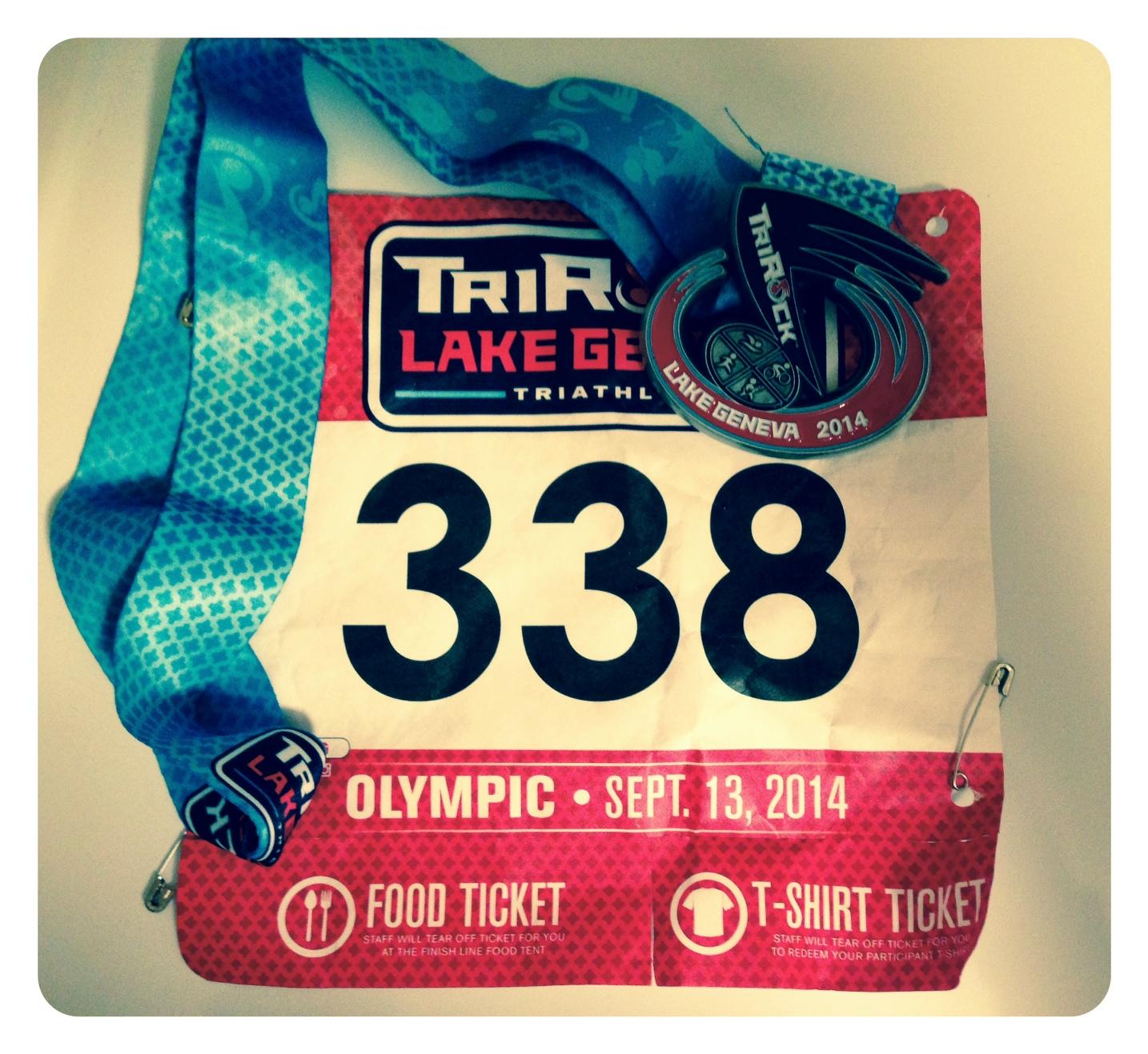 TriRock Lake Geneva Medal